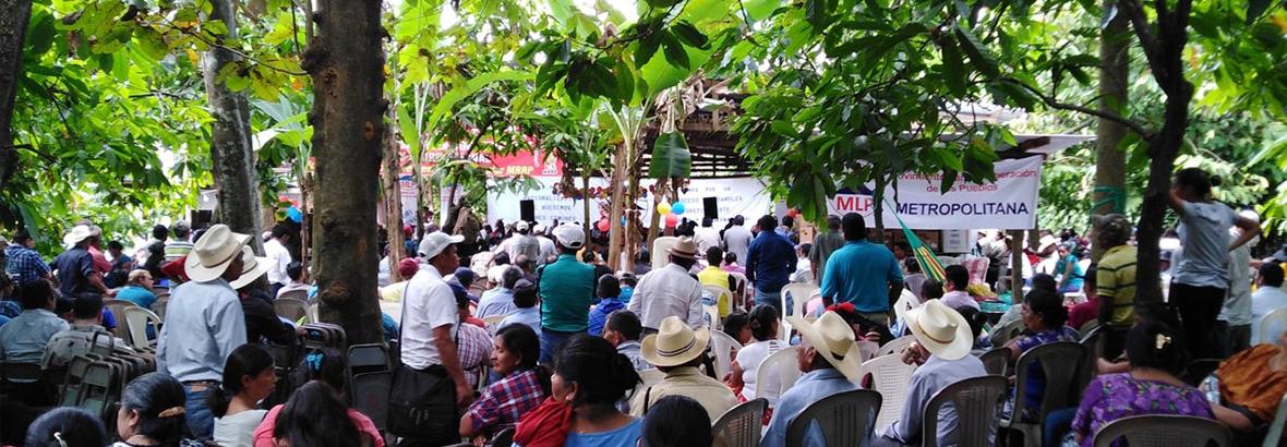 Por la lucha del Pueblo de Guatemala